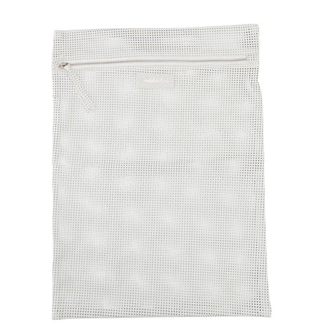 Mesh Bag Perforated Soft Lamb Leather -Black
