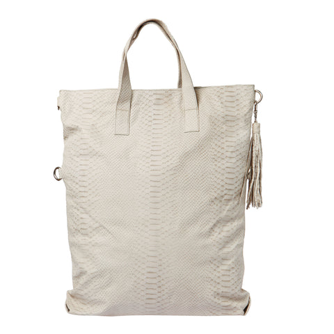 Fold Over Two Way Bag - Crocodile look