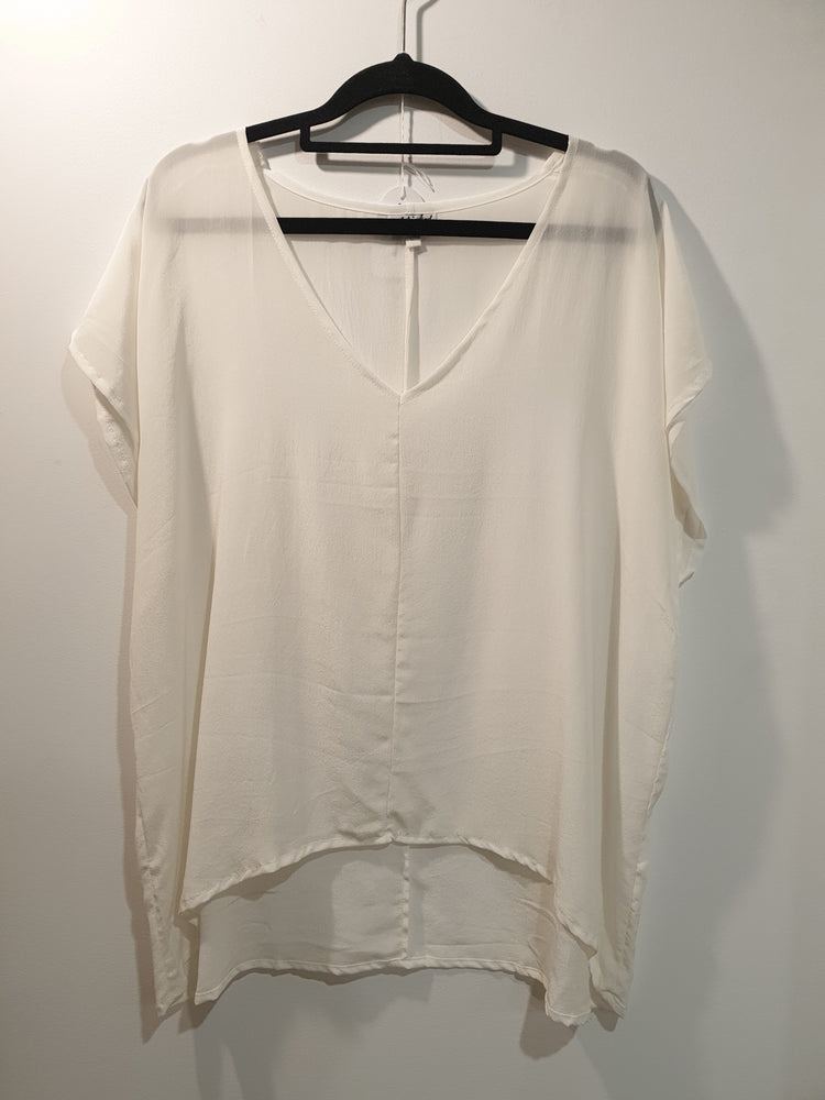 V-neck top Silk