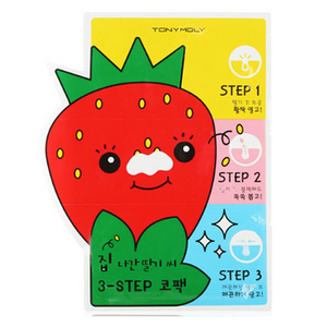 Tony Moly Strawberry Seed 3-Step Nose Pack