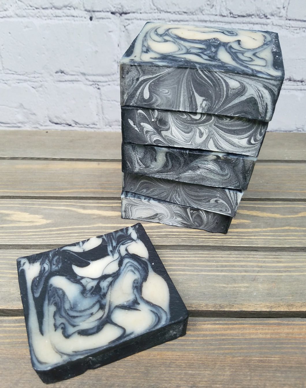 Pure Coal All-Natural Cold Process Soap with Charcoal, Chamomile Powder, Kaolin Clay & Coconut Milk