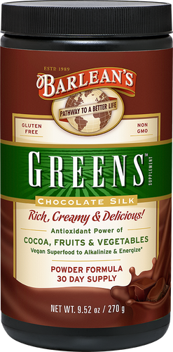 Barleans Chocolate Silk Greens - Chocolate