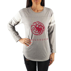 Game of Thrones House Targaryen Crew Neck Long Sleeve T-Shirt
