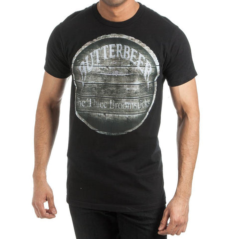 Harry Potter Butterbeer The Three Broomsticks Men's Black T-Shirt