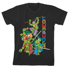 Teenage Mutant Ninja Turtles 8-Bit Cowabunga Boys T-shirt