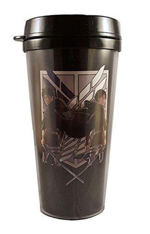 Attack on Titan Travel Coffee Mug Levi and Eren