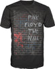 Pink Floyd The Wall Men's Black T-Shirt Tee Shirt