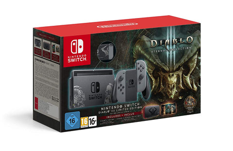 Nintendo Switch Diablo III Limited Edition Console with Diablo III Download Code + Themed Carry Case (Discontinued)