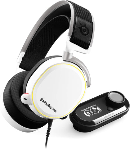 SteelSeries Arctis Pro + GameDAC Gaming Headset - Certified Hi-Res Audio System for PS4 and PC - White or Black