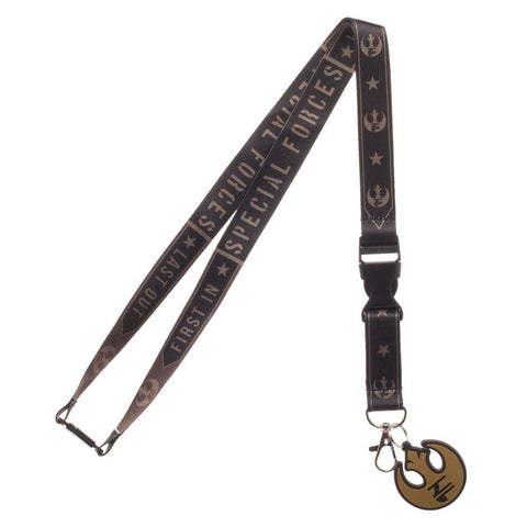 New Star Wars Endor Commando Wide Strap Lanyard with ID Badge Holder