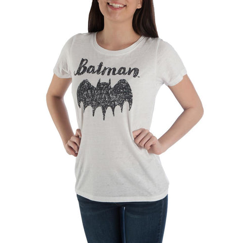 Batman Bat Signal High Low Juniors Top T-shirt Tee Shirt