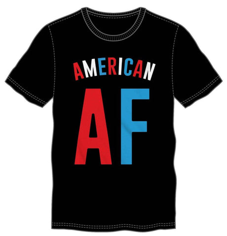 Fourth Of July American AF Men's Black T-Shirt