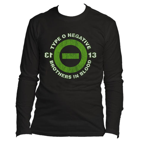 TYPE O NEGATIVE 13 BOB - MENS BLACK LONG SLEEVE T-SHIRT