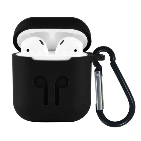 Apple AirPods Premium Silicone Case Full Protective Cover Skin with Keychain
