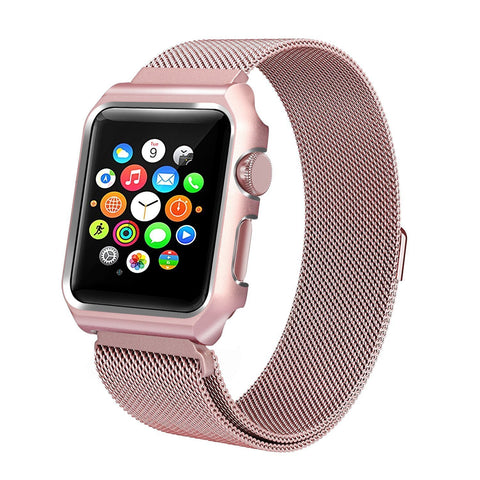 iWatch Magnetic Milanese Strap With Metal Protective Case