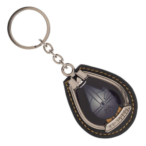 Star Wars Millennium Falcon Stitched Keychain w/ Attached Bottle Opener, House Key Friends Gathering