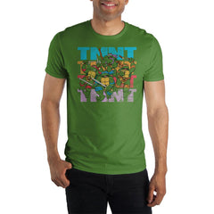 TMNT Teenage Mutant Ninja Turtles Men's Green T-Shirt Tee Shirt