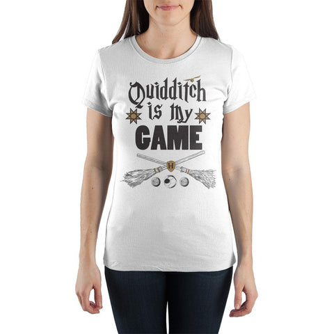 Harry Potter Quidditch Is My Game Women's White T-Shirt