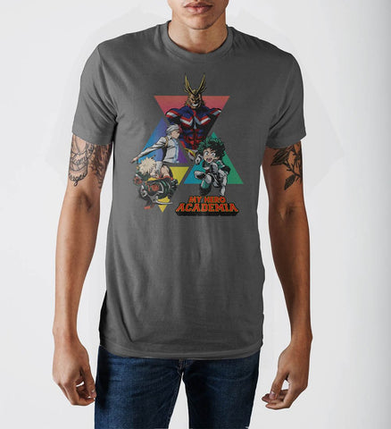 My Hero Academia Triangles Grey T-Shirt