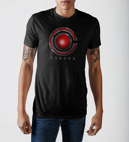Justice League Cyborg Logo T-Shirt