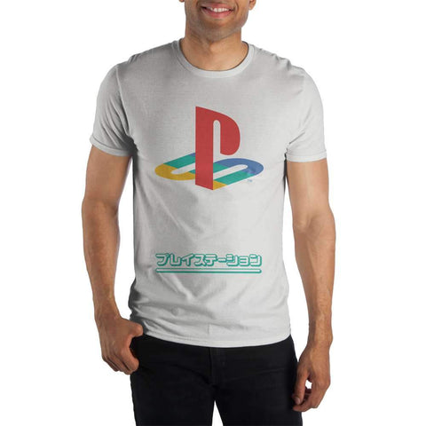 PS1 Playstation 1 Logo Men's White T-Shirt Tee Shirt