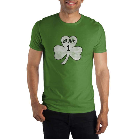 Drunk 1 Shamrock Men's Green T-Shirt Tee Shirt