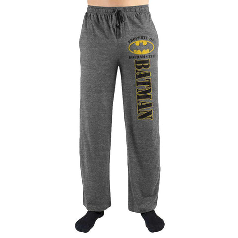 DC Comics Batman Property Of Gotham City Leg Print Mens Nightwear Lounge Sleep Pants