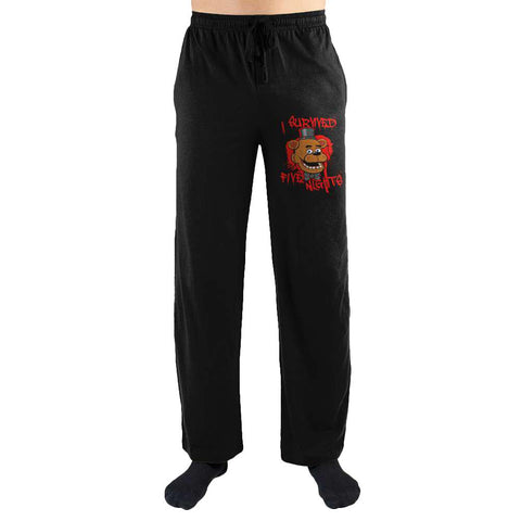 FNaF Five Nights at Freddys I Survived Five Nights at Freddys Print Mens Loungewear Lounge Pants