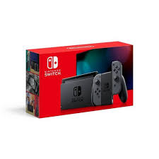 Nintendo Switch + 1 Game Bundle V2 80% More Battery – Gray Joy-Con