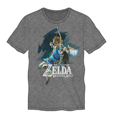 The Legend of Zelda Breath of the Wild Bow Grey Tshirt