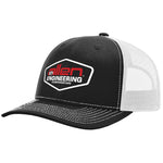 Allen Engineering Corporation - Black & White - Full Sleeve (24 Hats)
