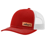 Red Allen Leather Patch Hat - Full Sleeve (24 Hats)