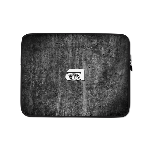 Allen Laptop Sleeve - Black Concrete