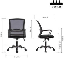 Load image into Gallery viewer, Mesh Office Chair With Lumbar Support