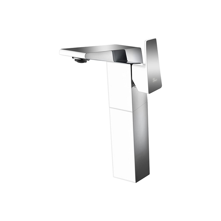 Dawn AB41 1475CPW Single-Lever Tall Lavatory Faucet, Chrome & White