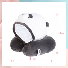 Load image into Gallery viewer, MINISO Bantal Leher Hoodie Lucu U-shaped Neck Pillow Cute Travel Pesawat Karakter Hewan Beruang Imut