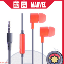 Muat gambar ke penampil Galeri, MINISO Marvel Earphone In Ear / Earbud / Headset / Headphone Hp Lucu Kabel Gaming Android Warna Stereo Noise Cancelling With Mic Mikrofon Jawab Akhiri Panggilan Bass Dengan Tempat Tas Earphone