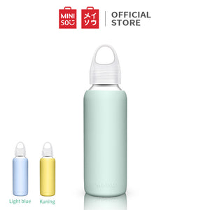 Miniso Botol Minum Kaca 300ml Glass Water Bottl, Gelas Air Botol Minum