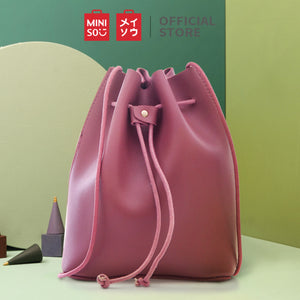 MINISO Tas Selempang Wanita Ember Bucket Bag Simple Sling Bag Woman
