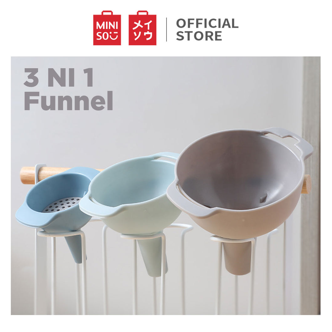 MINISO 3-in-1 Set Funnel 3 Pcs Corong Air Minyak