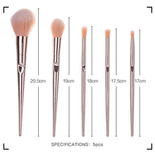 Muat gambar ke penampil Galeri, MINISO 5pcs/lot makeup Set  Brush, Eye Shadow Blending Eyeliner Eyelash Eyebrow Brushes For Makeup