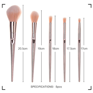 MINISO 5pcs/lot makeup Set  Brush, Eye Shadow Blending Eyeliner Eyelash Eyebrow Brushes For Makeup