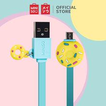 Muat gambar ke penampil Galeri, MINISO Kabel Data Charger Android Micro Data Cable ,Es Krim/Donut/Lollipop