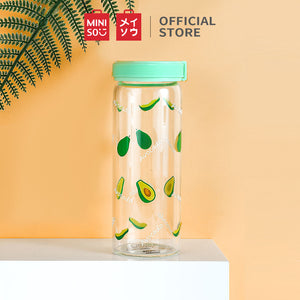 MINISO Botol Kaca Water Bottle 300ml