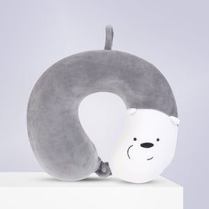 MINISO We Bare Bears- Memory Foam U-shaped Pillow /Bantal Travel