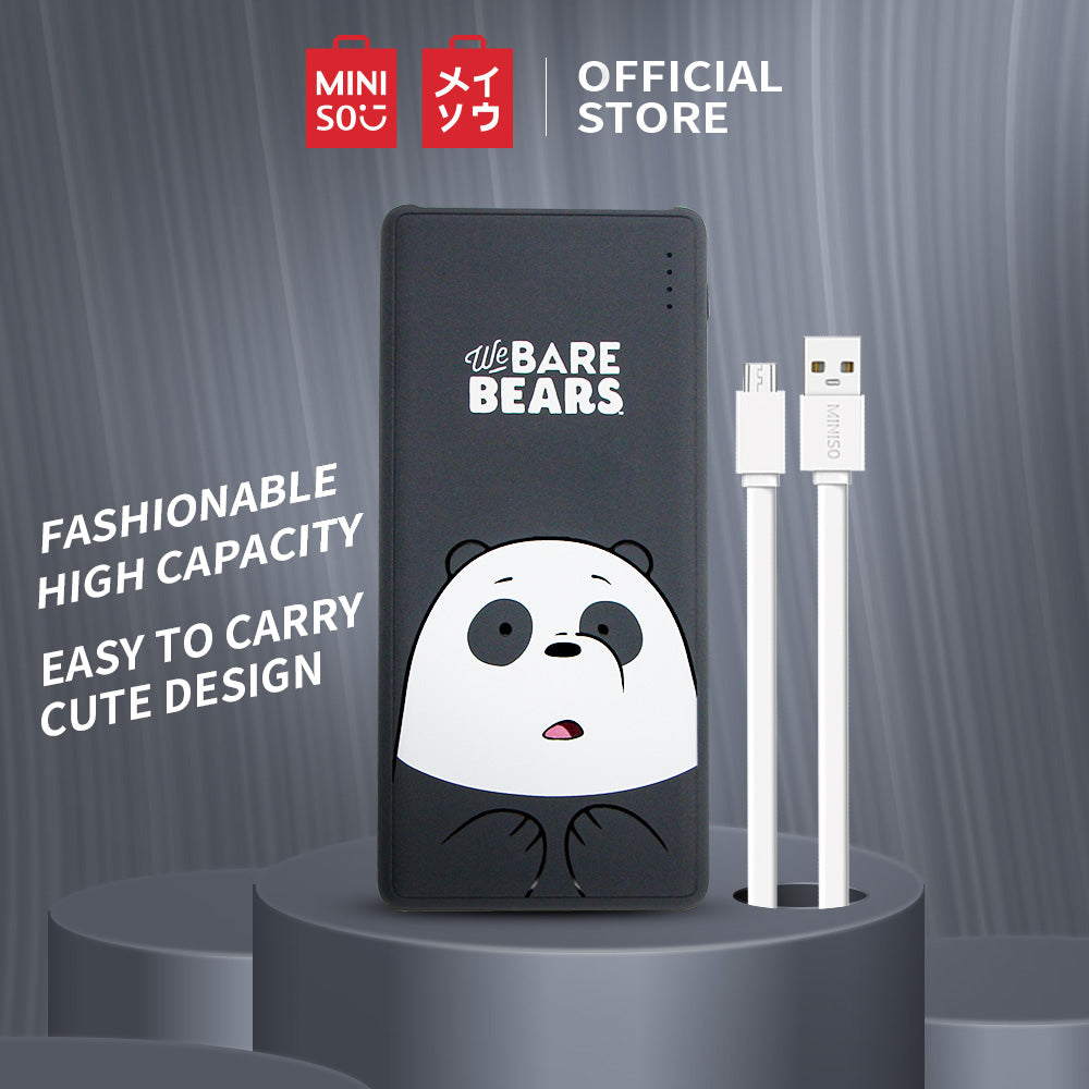 MINISO Power Bank 10000mAh Daya Besar Capacity  Charging We Bare Bears