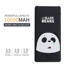 Muat gambar ke penampil Galeri, MINISO Power Bank 10000mAh Daya Besar Capacity  Charging We Bare Bears