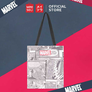 MINISO Marvel Tas Bahu Wanita Totebag 2 Saku Crossbody Shoulder Bag
