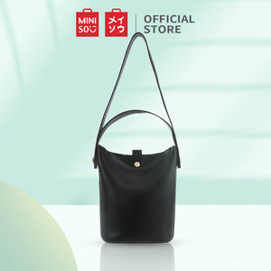 MINISO Tas Selempang Wanita Bucket Bag Tali Lebar Sling Bag Stylish Fashion Kasual