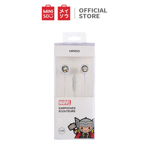 MINISO Marvel Earphone In Ear / Headset / Earbud / Headphone Hp Lucu Kabel Gaming Android Warna Stereo Noise Cancelling Bass With Mic Mikrofon Jawab Akhiri Panggilan